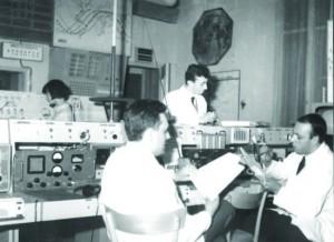 Sala di controllo radio dei Fratelli Judica Cordiglia presso Cascina Bert, 1957-67