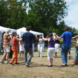 Una delle prime feste organizzate a Cascina Bert