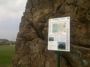 Un pannello descrittivo lungo il percorso Sangone-Dora